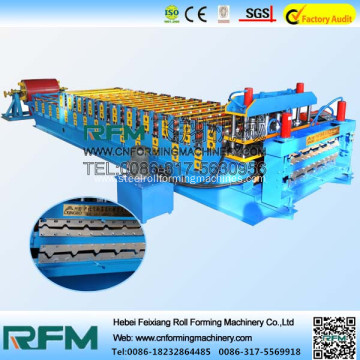 Glazed tile roofing panel forming machine